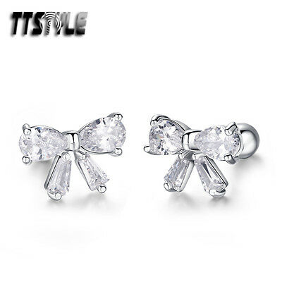 TTstyle Surgical Steel Mini Flower Fake Ear Cartilage Tragus Earrings A Pair NEW