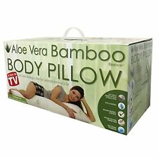 Sqa Aloe Vera Bamboo Body Pillow with Cool Gel Technology