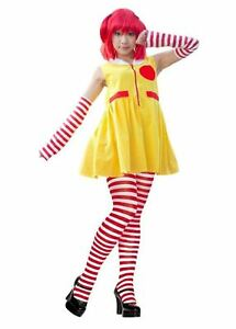 Ladies Ronald The Clown Red & Yellow Fancy Dress Costume Dress & Accessories Attraktive Mode