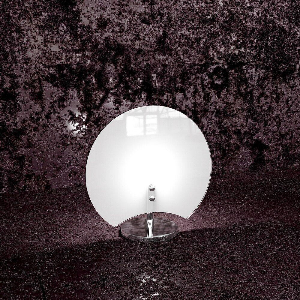 Lumetto in vetro moderno bianco cromato a 1 luce tpl 1114 P