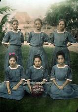 Photo. 1909. Manila, Philippines. Nurse Basketball Team