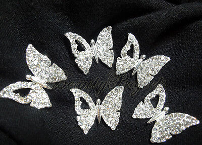 (5pcs) Butterfly Charms For Cell Phone, Nail Decorations, Clothes, Jewelry New Sterke Weerstand Tegen Hitte En Hard Dragen