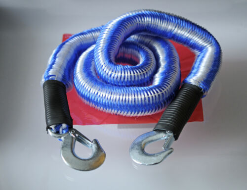 Cable de remolque 2800kg elástica elástico avería cuerda remolcar Reparación de inicio