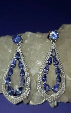 ❤ JAYNES GEMS FANTASTIC  8CT  AAA TANZANITE  DROP EARRINGS