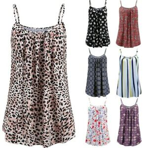 Summer-Womens-Plus-Size-Loose-Sleeveless-Printed-Tops-Basic-Camisole-Tank-Tops