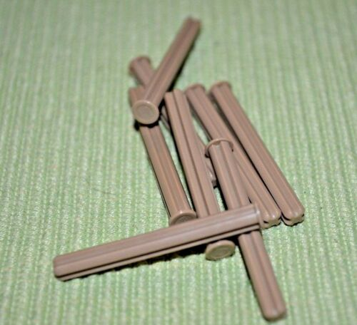 6 Dark Tan #5 Axle Rod w// Flared End ~ Technic ~ Lego ~ NEW
