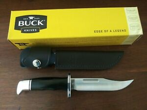 Buck Knives 119 Special Black Phenolic Handle Fixed Blade Knife W/ Sheath 119BKS