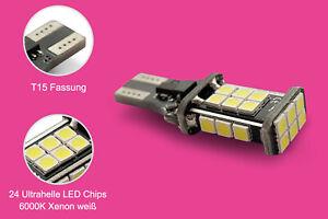 2-W16W-x-T15-posterior-conduccion-CANbus-LED-6000-K-Xenon-blanca-luz-luz-de-marcha-atras
