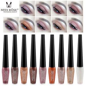 Miss-Rose-9-Colores-Sombra-de-Ojos-Delineador-Liquido-Impermeable-Brillo-Brillo-Maquillaje