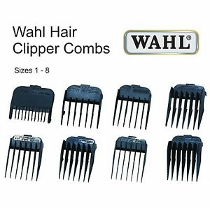 haircut clipper sizes wahl hair clipper comb black plastic all sizes available 1 1841 | s l300