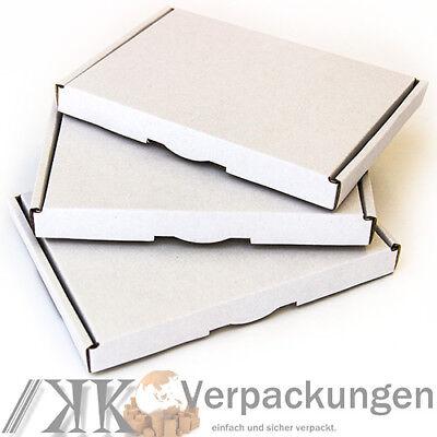 400 Großbriefkartons 157x115x15 Großbrief Briefkarton Kartons Weiss
