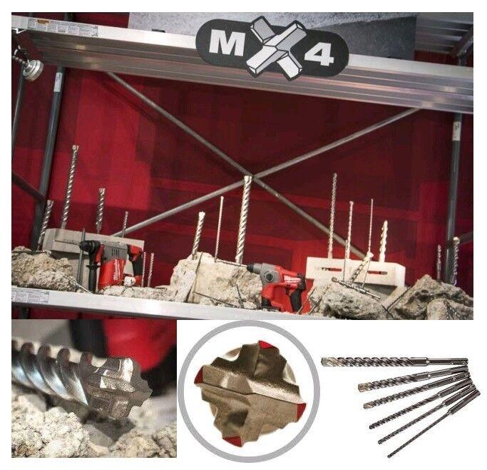 MILWAUKEE MX4 Hammerbohrer   Betonbohrer 6 - 32 mm (SDS Plus   Max) 4 Schneider