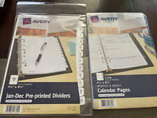 Avery Jan Dec Pre Printed Tab Dividers 11315 Amp Calendar Monthweek Pages 14825