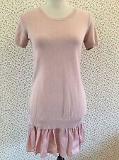 Cos Layered Knit Dress With Skirt Detail In Pink. Size XS.