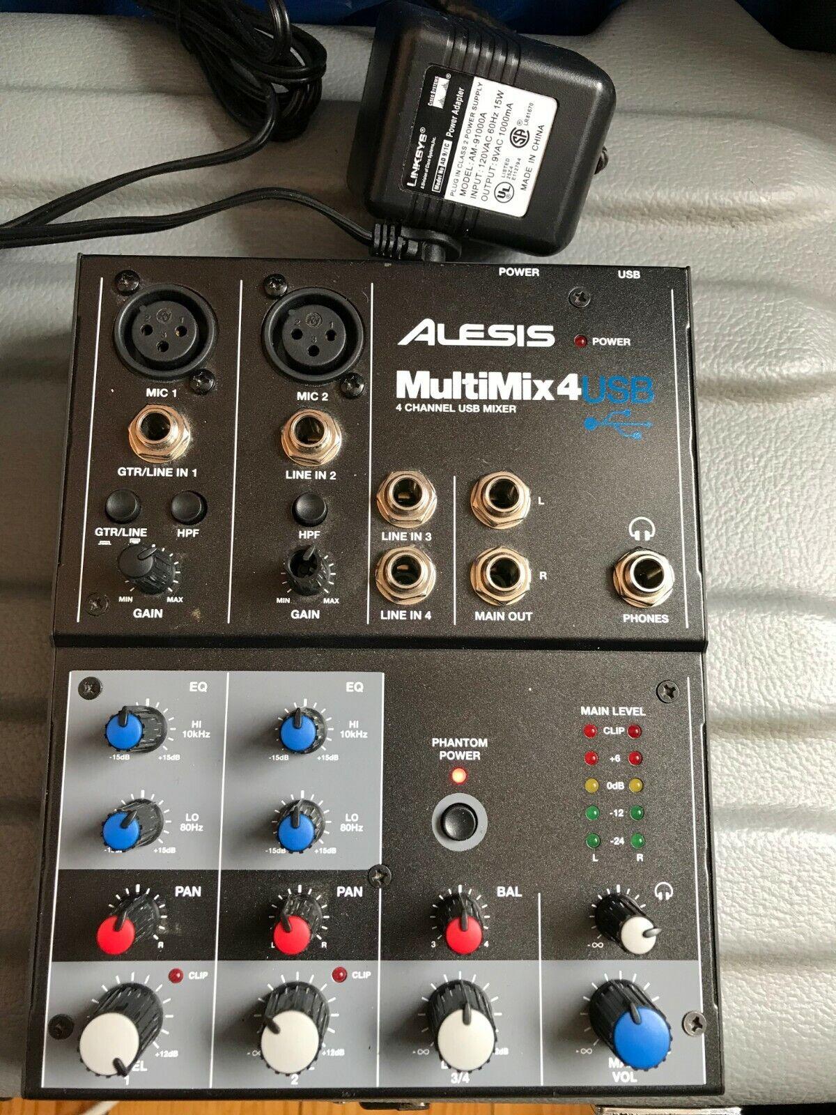 Alesis MultiMix 4 USB FX 4-Channel DJ Mixer
