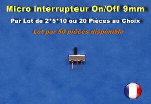 LOT-DE-2-5-10-20-OU-50-MICRO-INTERRUPTEURS-A-GLISSIERE-3-PIN-SPDT