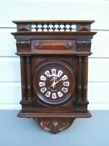French-Mahogany-Vineyard-wall-clock-striking-key-amp-pen-working-beautiful