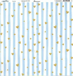 Rem Dream Big Scrapbooking Paper 12x12 Baby Boy Blue Brick Background 819442023221 Ebay