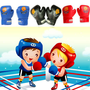 Children Kids FIRE Boxing Gloves Sparring Punching Fight Training Age 3-12 TCNI