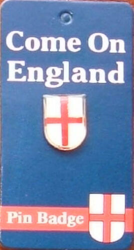 ENGLAND CUFFLINKS IN PRESENTATION BOX PIN BADGE ST GEORGE FLAG SHIELD CARDED