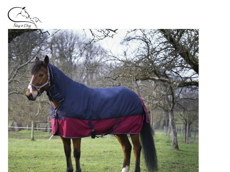 Equitheme Tyrex 1200D Outer 200g Polyfil Medium Combo Horse Rug Turnout - Navy