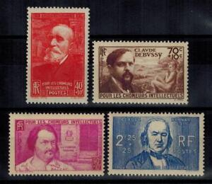 a23-timbres-France-n-436-439-neufs-annee-1939