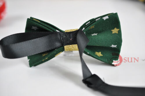 Boys Kids 100/% Cotton Xmas Christmas TODDLER Bow Tie Bowtie Party 1-6 Years old