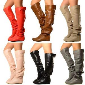 stivali donna ginocchio tacco in vendita | eBay