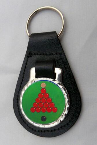 Snooker Noir Porte Clé Cuir Nouveau Cadeau Anniversaire Cadeau
