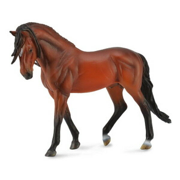 Collecta 88630 Andalusian Stallion Bright Bay 1 12 Miniature Animal Figure Toy