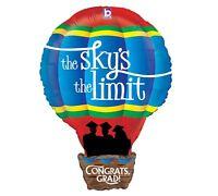 Fun Hot Air Balloon 30 Balloons Graduation Sky's The Limit Party & Free Ribbon
