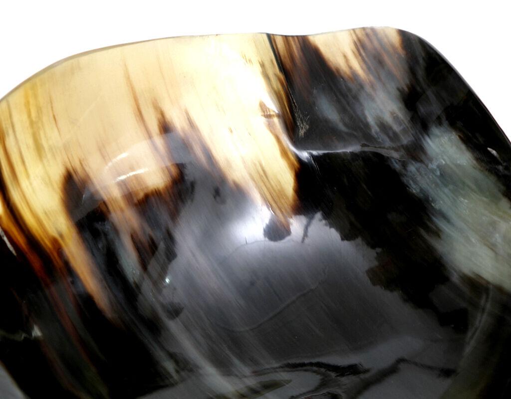 Schale Aus Kuhhorn Poliert Etagere Etagere Etagere Obstschale Schüssel Echtes Horn Natur Unikat   München Online Shop  02165d