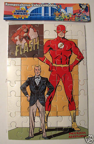 FLASH BARRY ALLEN JIGSAW PUZZLE ARGENTINA RARE MIP