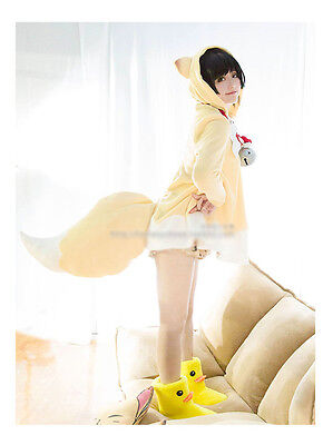 NEW Gugure! Kokkuri-san Kohina Ichimatsu Fox Cosplay Costume Cappa Cloak