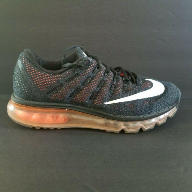 Nike Air Max 360 2016 Mens Size 8 Running Shoes Orange Black White 806771 008