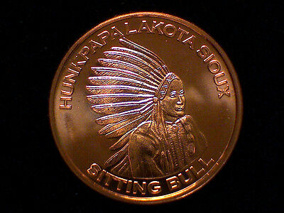 UNITED STATES TRADE DOLLAR 1 oz Copper Round Obversse  #15
