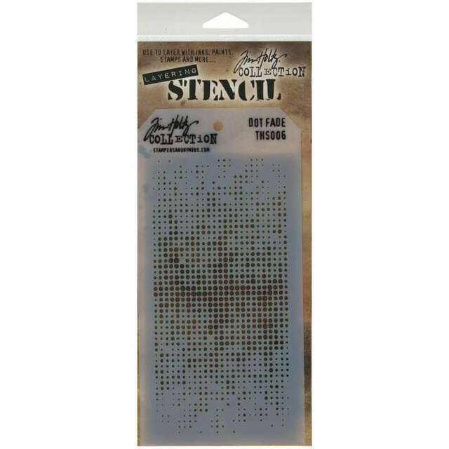 "Tim Holtz Layered Stencil 4.125/""X8.5/"" Lace 748252602152"