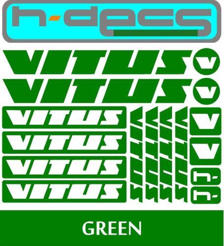 Vitus BikesT1 Die-cut decal sheet. stickers, cycling, mtb, bmx, road, bike