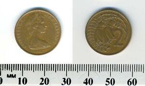 New-Zealand-1967-2-Cents-Bronze-Coin-Queen-Elizabeth-II