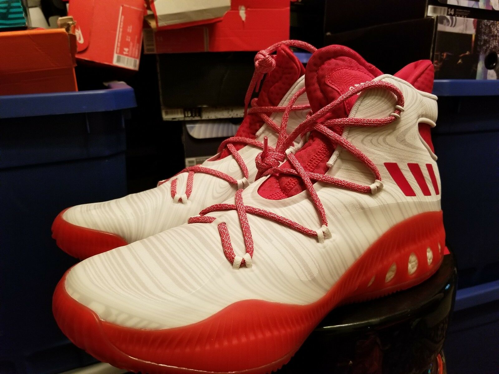 adidas SM Crazy Explosive NBA - Red;White - Mens New shoes for men and women, limited time discount