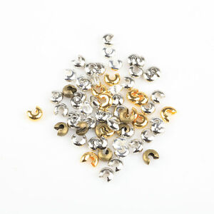 200Pcs Crimp Beads Covers Silver//Golden//Copper//Black 3mm,4mm,5mm