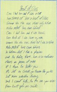 6533352ee30f Image is loading BLONDIE-DEBBIE-HARRY-Handwritten-Signed-Lyrics-amp-039-
