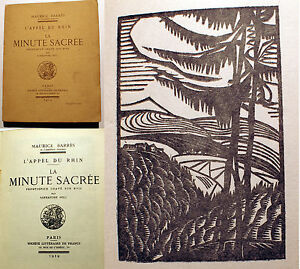 ALSACE-LORRAINE-BARRES-LA-MINUTE-SACREE-BOIS-D-ALEXANDRE-NOLL-1919-EO-DESIGN