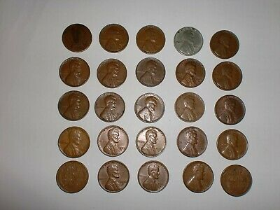 Indian Head /& Wheat Cents  Mixed lot of 100 UNSEARCHED Pennies 1859-1958