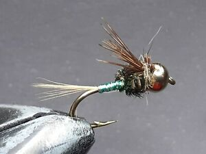 1 DOZEN  TUNGSTEN HEAD BLUE AND RED NYMPHS FOR FLY FISHING-TUNG 5