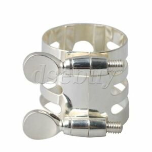 29x25mm-Silver-Plate-Mouthpiece-Ligature-for-B-Flat-Clarinet-Accessories