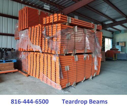 """teardrop Pallet Rack Tear Drop beams 9/'x4/"""" Horizontal rails NEW"""