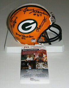 1961-1962-PACKERS-team-signed-mini-helmet-Wood-Davis-Hornung-Kramer-JSA-9-AUTOS