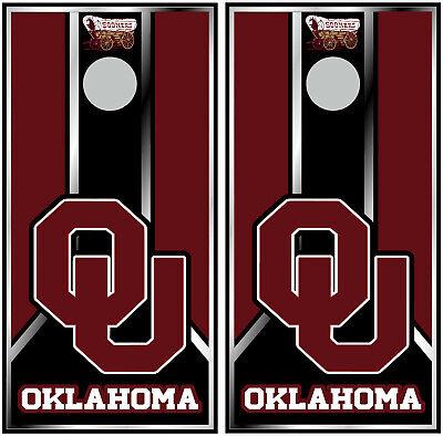 oklahoma sooners 0636 custom cornhole board vinyl wraps stickers