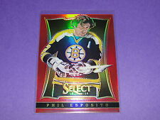 2013-14 Select PHIL ESPOSITO #185 Red Prizms Variant/35 Boston BRUINS Blackhawks